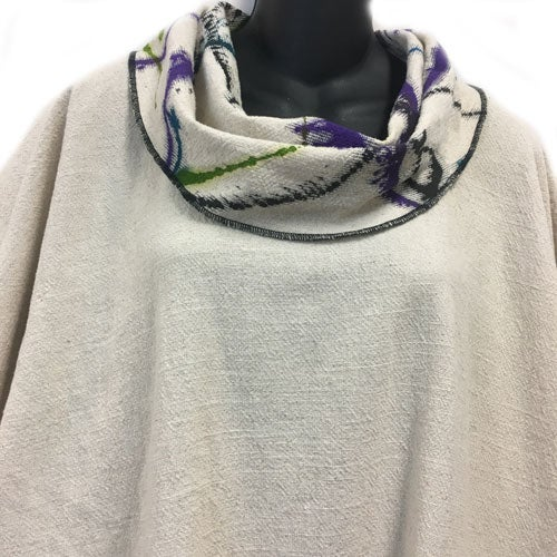 Image of Alison Tunic - hand painted -  white