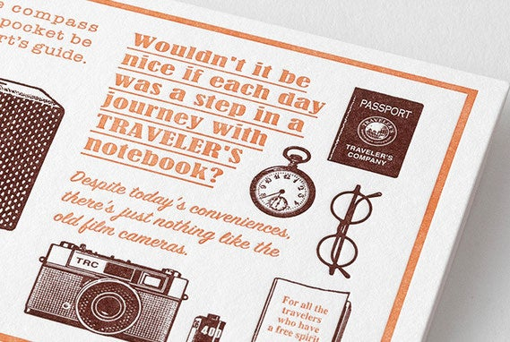 Image of TRAVELER'S Company Limited Edition Travel Tools Letterpress Card