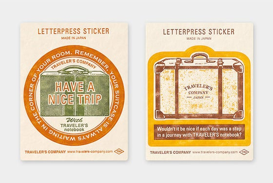 Image of TRAVELER'S Company Limited Edition Travel Tools Letterpress Stickers