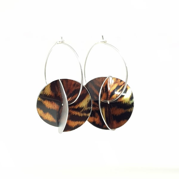 Image of Whirligig Earrings - Tiger