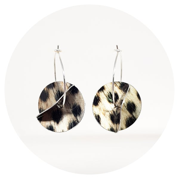 Image of Whirligig Earrings - Cheetah