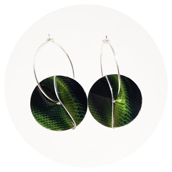 Image of Whirligig Earrings - Snakeskin