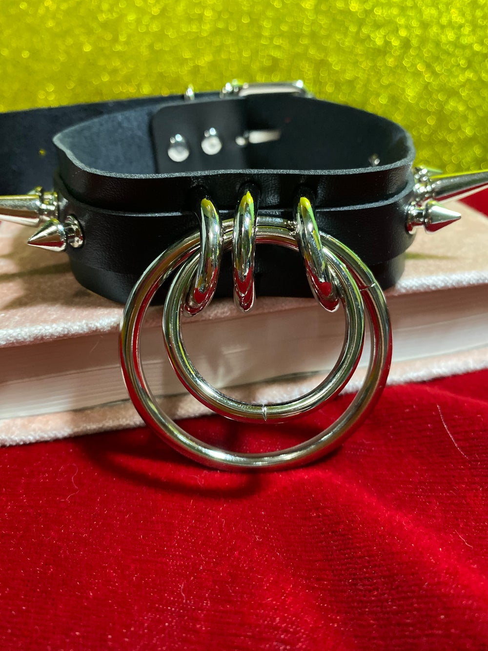 Spiked O-Rings Choker (Red Only)