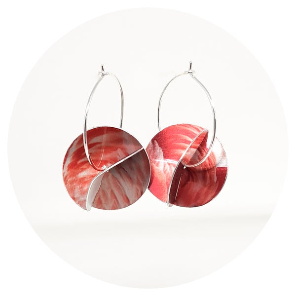Image of Whirligig Earrings - Flamingo