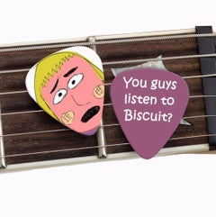 Biscuit guitar pic - Sick Animation Shop