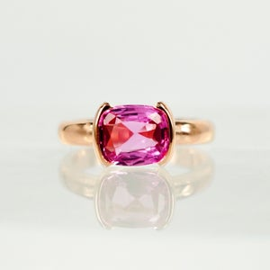 Image of 18ct Rose Gold Pink Sapphire Cocktail Ring