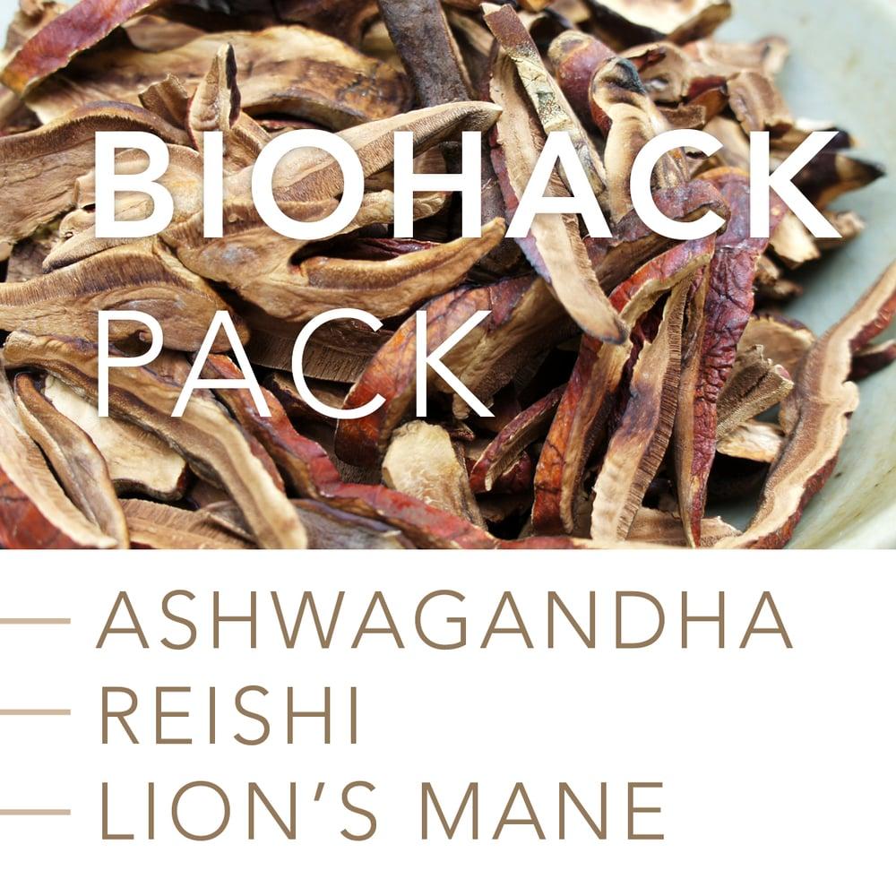 Image of BIOHACK PACK: Ashwagandha, Reishi Mushroom and Lion's Mane Mushroom