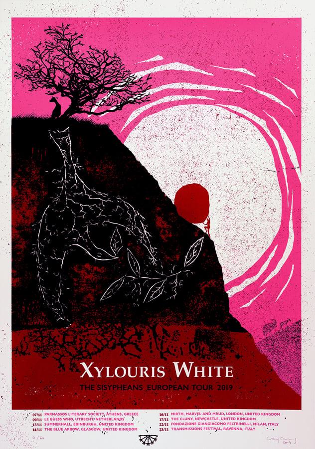 """Image of XYLOURIS WHITE """"The Sisypheans"""" EU Tour Poster"""