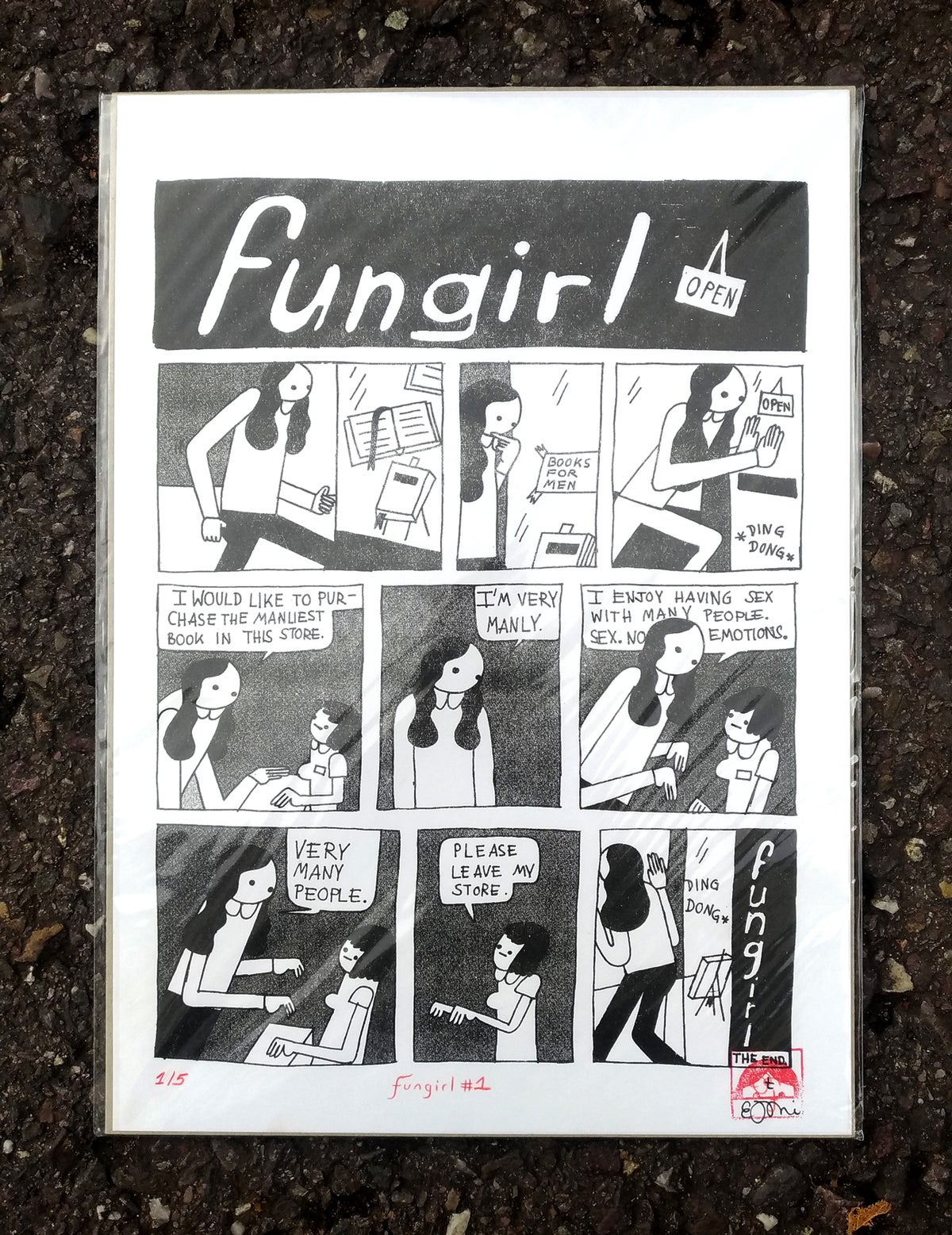 Image of Fungirl – BOOKS FOR MEN – First Comic Original Riso – Limited Edition