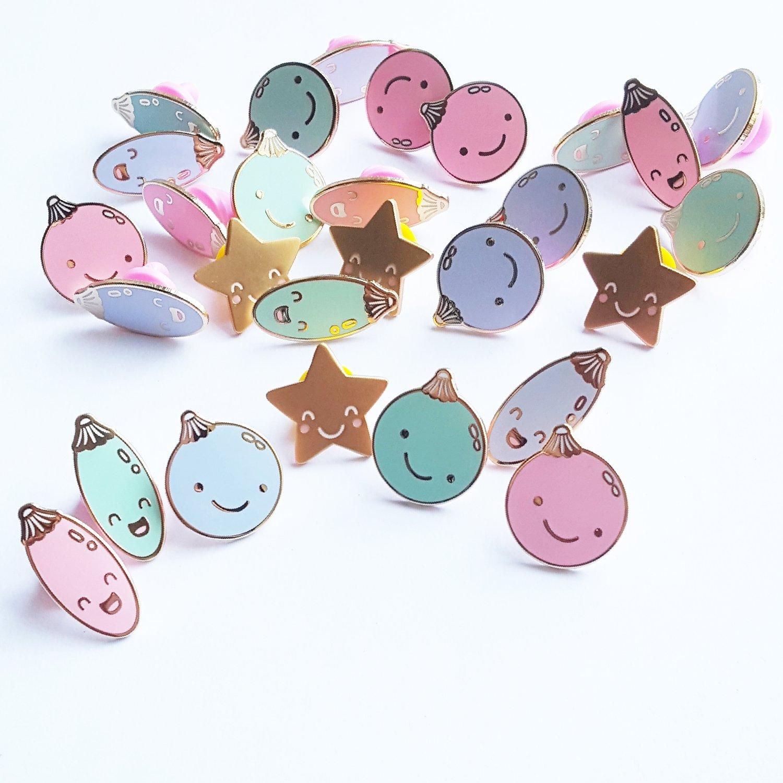 Image of Christmas Bauble Buddies Enamel Pins