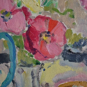 Image of 1942 Swedish Painting, 'Poppies,' KARL ENOCK OHLSSON