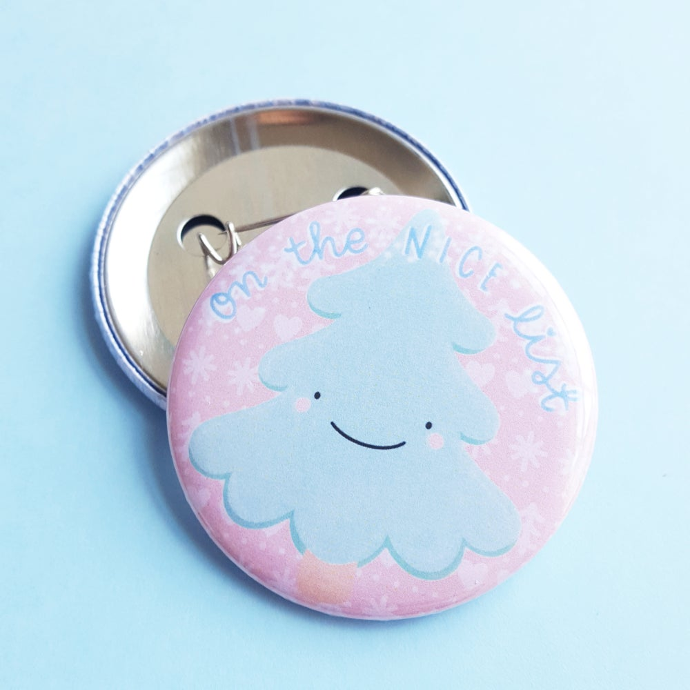 Image of On the NICE List - Button Badge