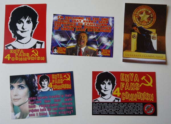 Image of Enya Fans 4 Communism Stickers (5 designs)