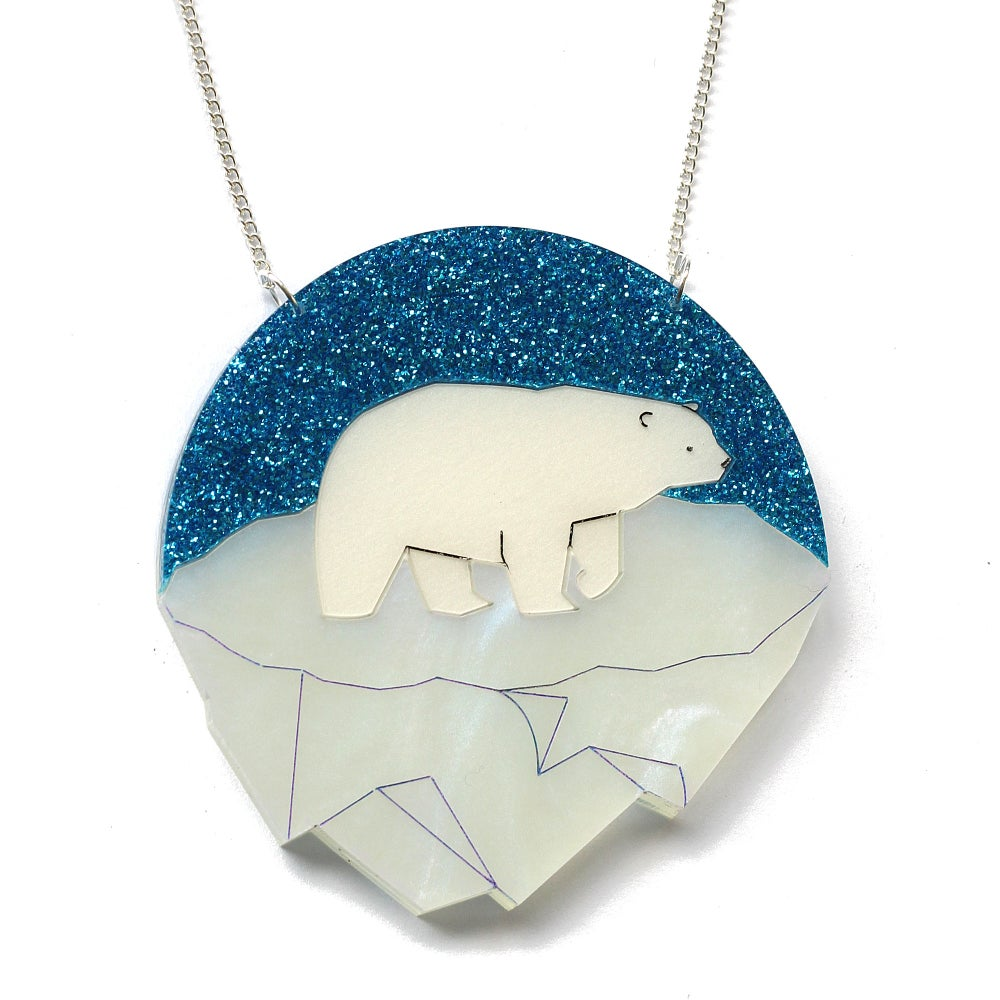Image of Polar Bear Necklace or Brooch