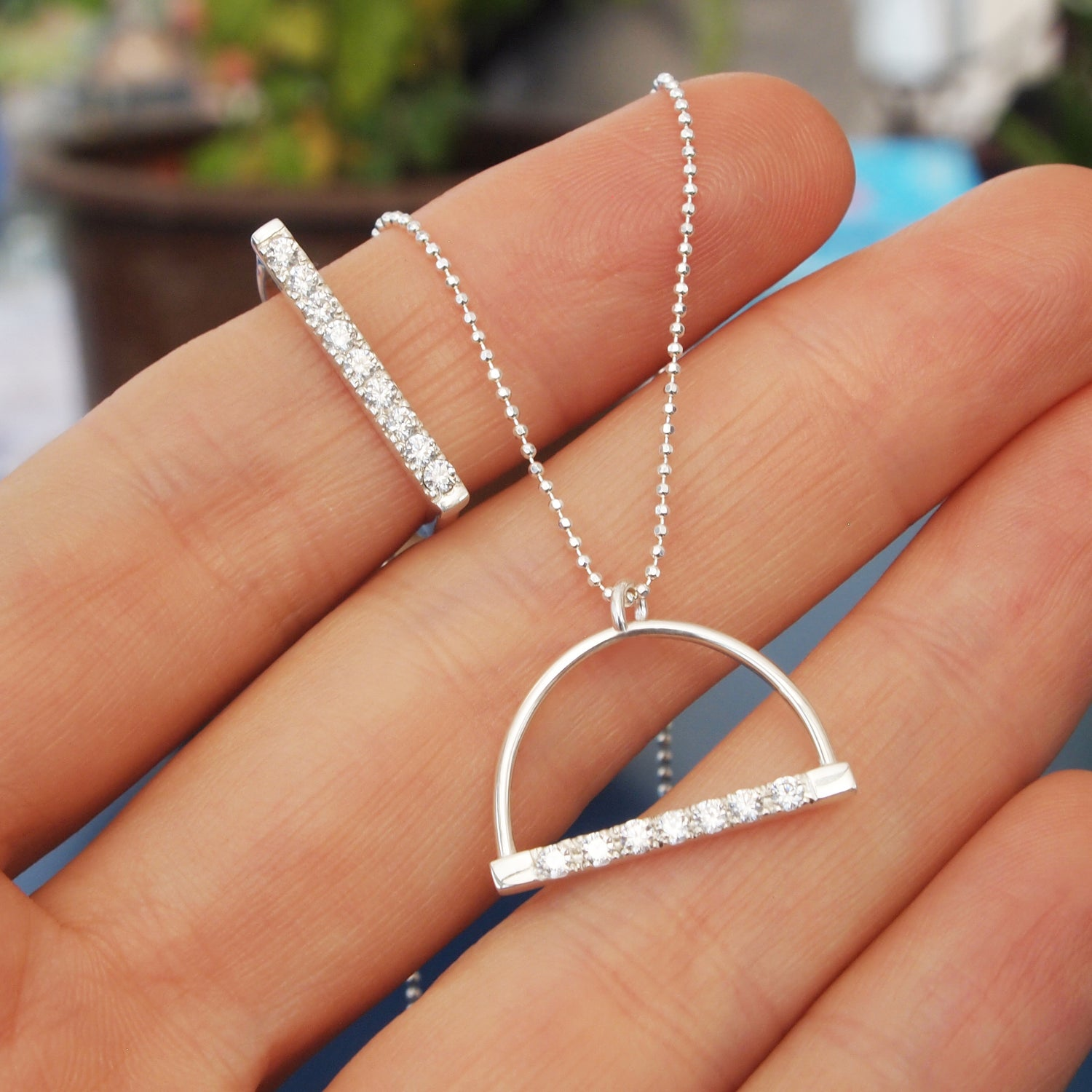 Image of Pave Bar Necklace