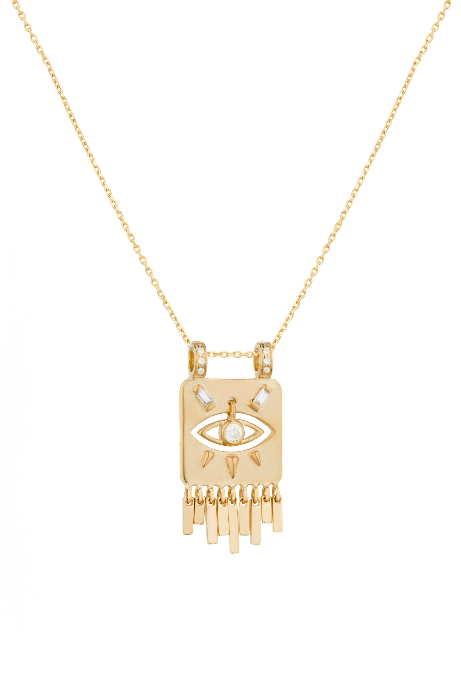Image of COLLIER MINI TOTEM ŒIL & DIAMANTS.