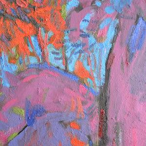 Image of Contemporary Impressionist Painting, 'Magenta Sunset,' Alexandr Petelin