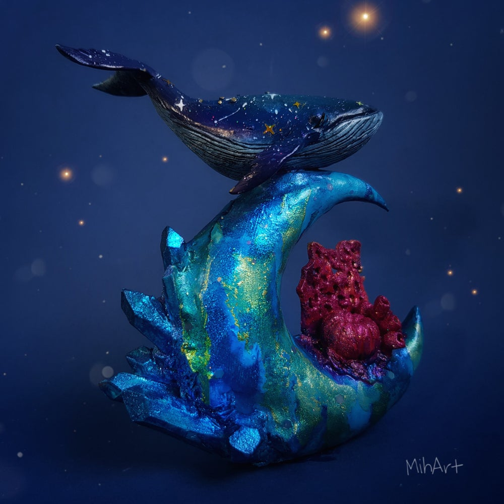 Image of Whale Whimsical Crystal Moon