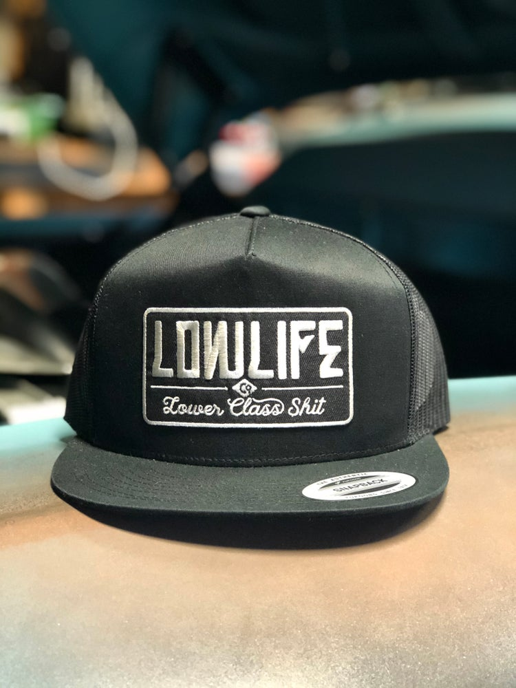 Image of Black Lowlife Lower Class Shit Trucker Hat