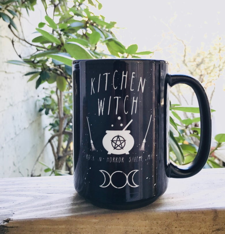Image of Kitchen Witch Mug + Apron Bundle
