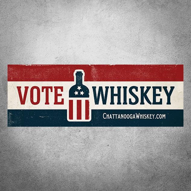 Image of Chattanooga Whiskey: Vote Whiskey Bumper Sticker