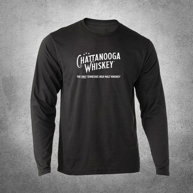 Image of Chattanooga Whiskey Longsleeve T-shirt (Black)