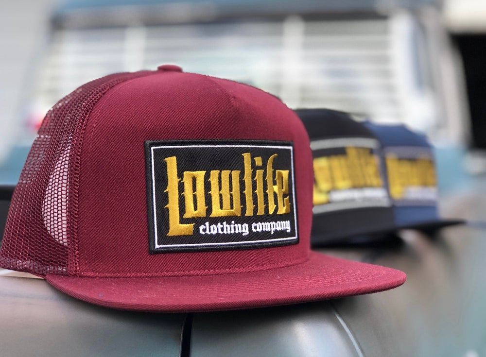 Image of Lowlife El Guapo Patch Hat in Maroon
