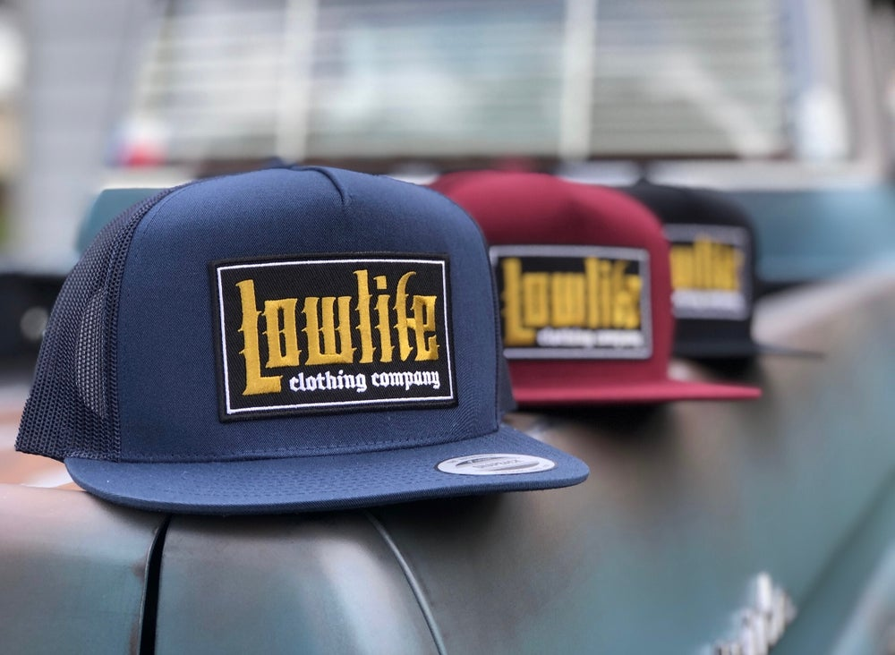 Image of Navy Lowlife El Guapo Patch hat