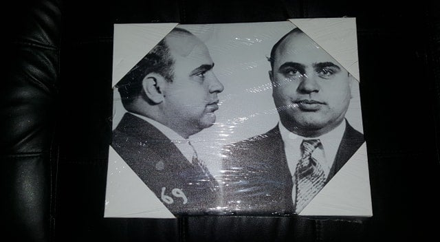 Image of 11 X 14 MAFIA MUGSHOT CANVAS (IN STOCK)