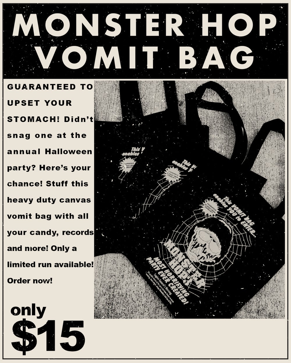 Image of Monster Hop Vomit Bag