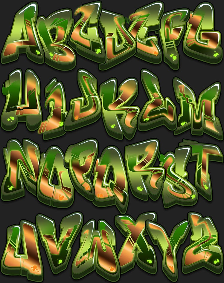 Image of Graffiti Font - Cash