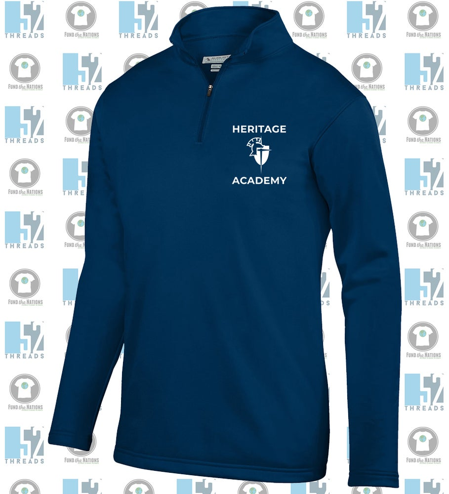 Image of Blue 1/4 Zip Pullover