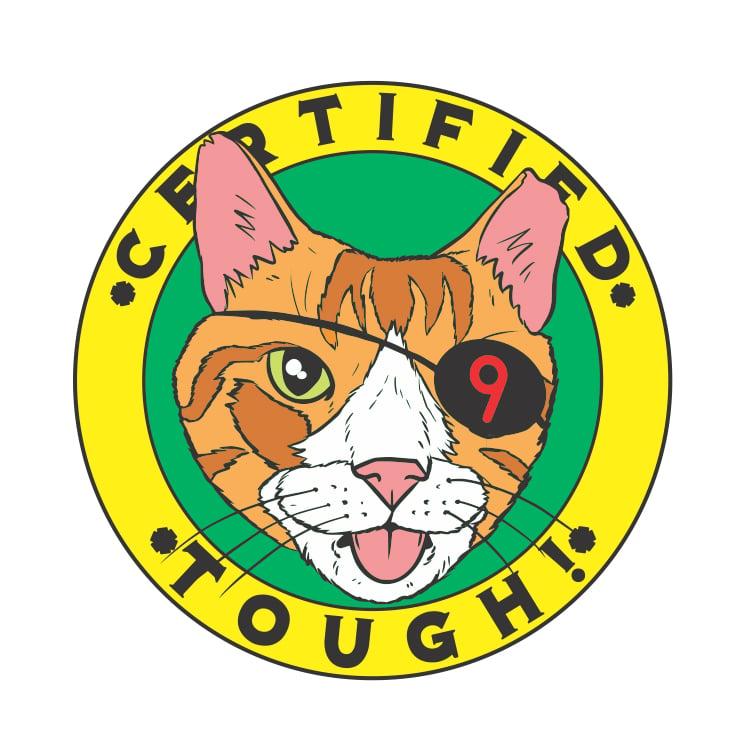 Image of 'Certified Tough' Pin *PRE ORDER* : @bobmotown x Cat Man