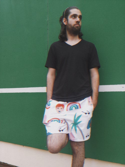 Image of Babes in the Tropic print  Men Sport Shorts
