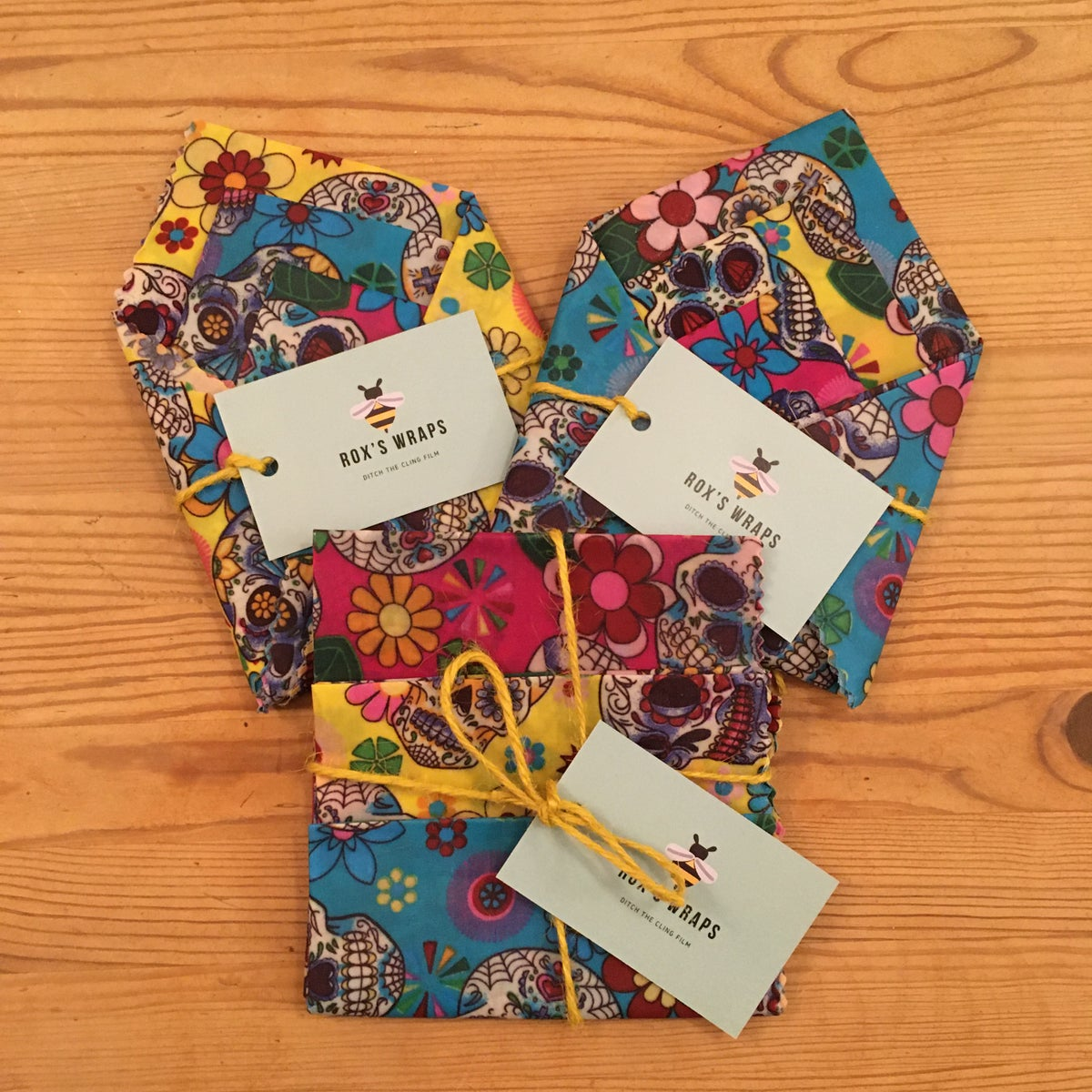 Image of Beeswax Wraps - Skulls - Pack of 3