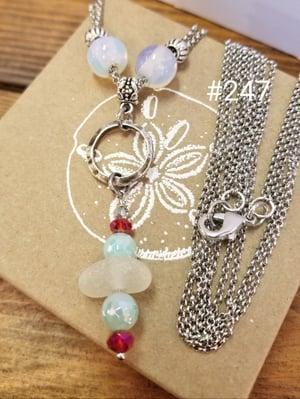Image of Sea Glass-Agate-Multi Strand-Necklace-#247