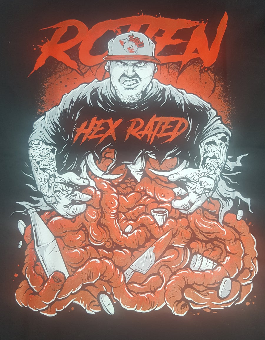Image of HEX RATED : ROTTEN 2.0  Embroidered Zip Up
