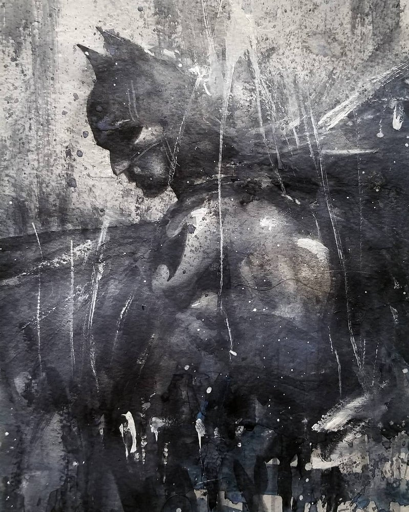 Image of Batman watercolor prints