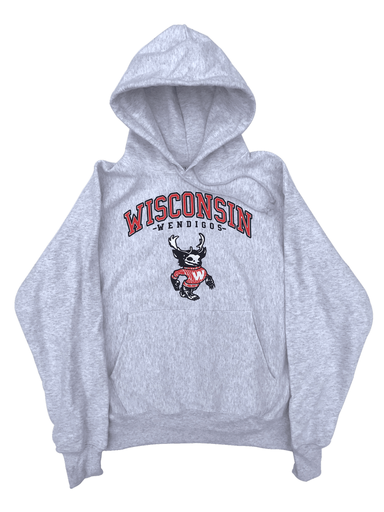Image of **PRE-ORDER** WENDIGO HOODED SWEATSHIRT (CHAMPION® REVERSE WEAVE) - SILVER