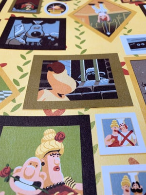Image of Wallace and Gromit - 30 year anniversary print.