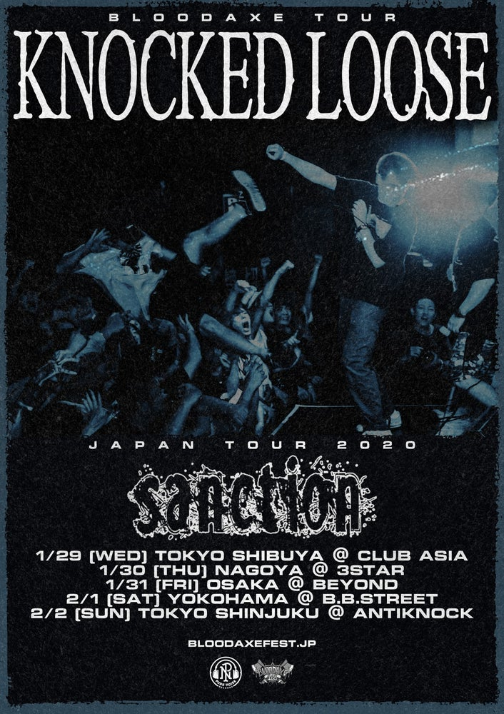 Image of KNOCKED LOOSE / SANCTION 1/29 TOKYO/SHIBUYA SHOW TICKET
