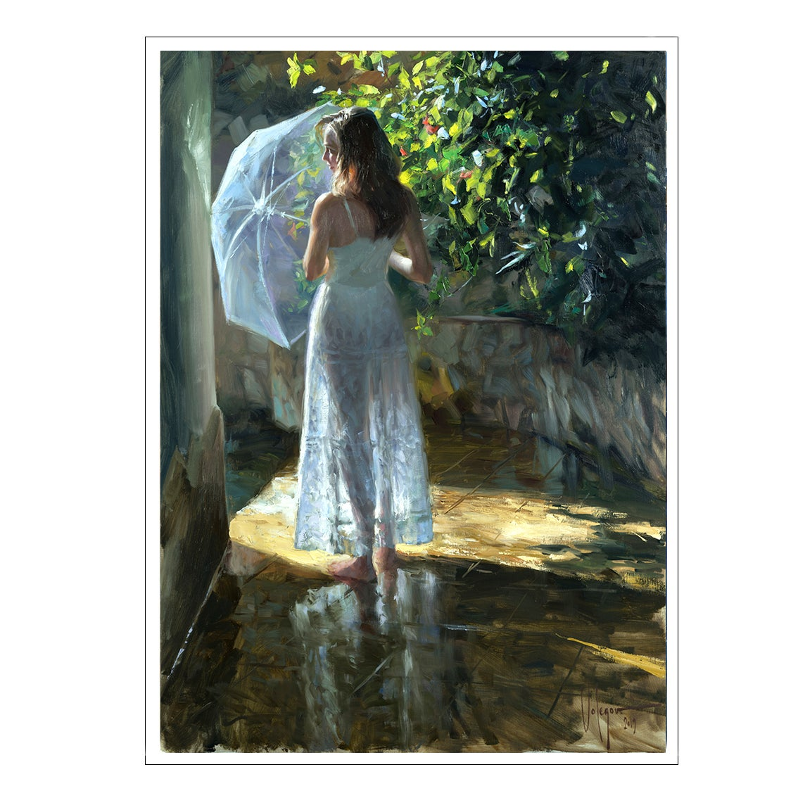 "Image of PRINT ON CANVAS ""AFTER THE RAIN"""