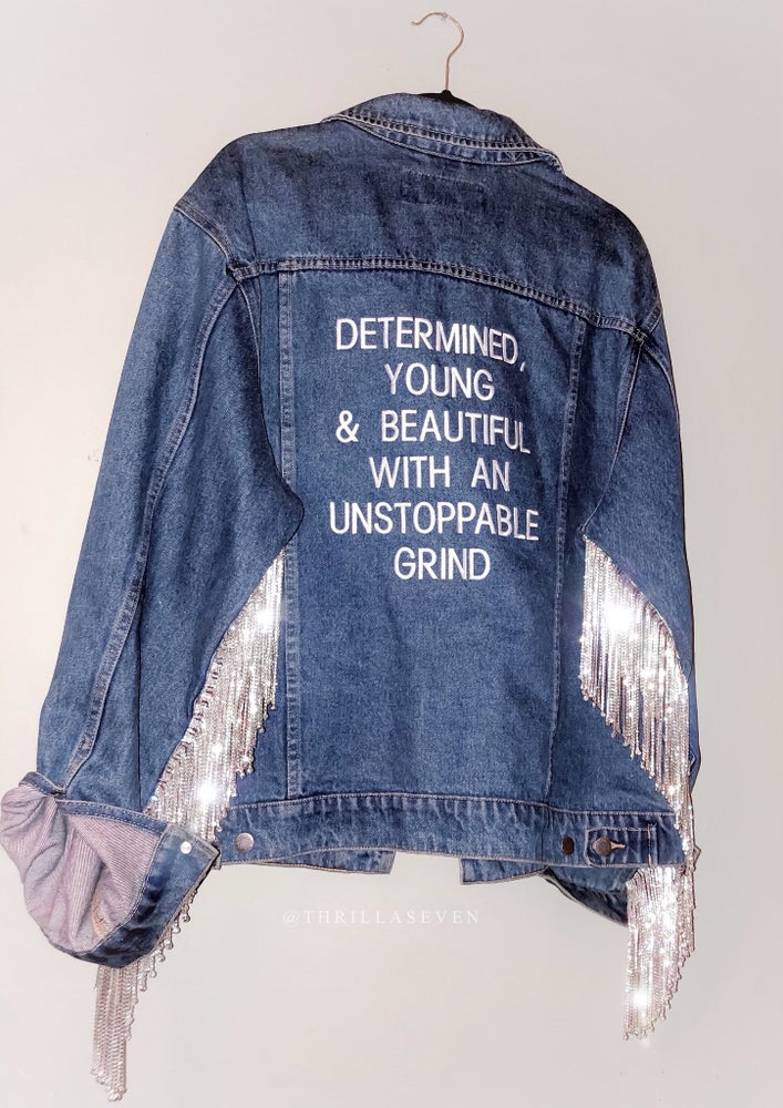 Image of DENIM LABEL©  'DETERMINED' DENIM JACKET