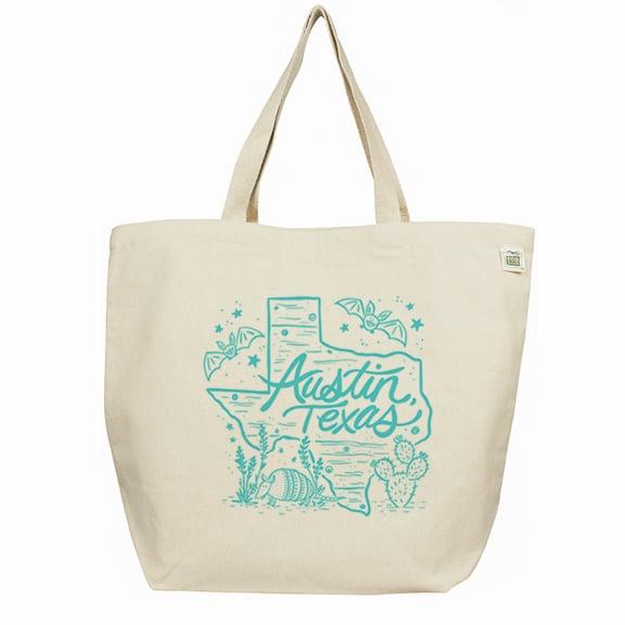 Image of Austin TX Medium Canvas Tote Bag