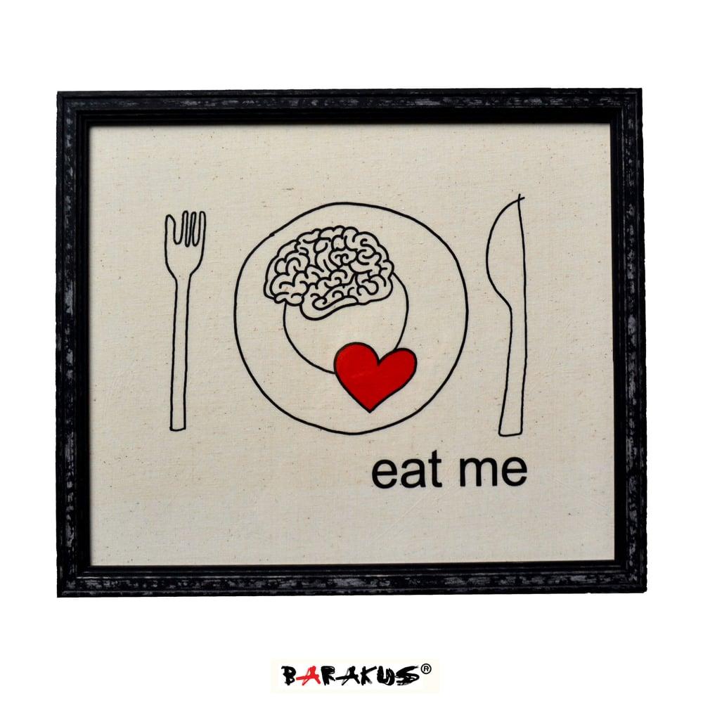 Image of EAT ME PAINTING PRINT By BARAKUS