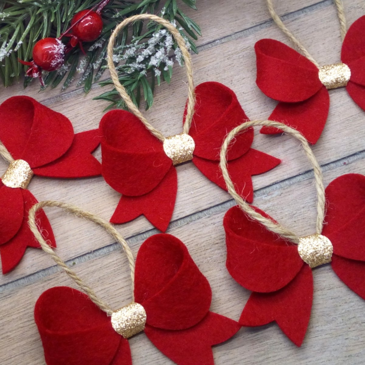 Image of Bow Shaped Christmas Tree Decoration