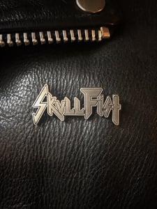 Image of SKULL FIST - NO FALSE METAL PIN