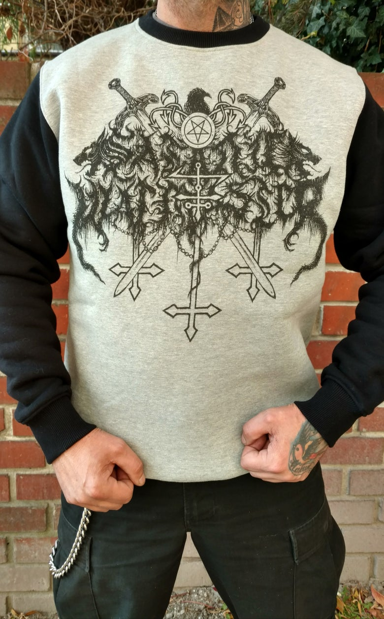 "Image of SATANIC WARMASTER ""Logo"" sweatshirt"
