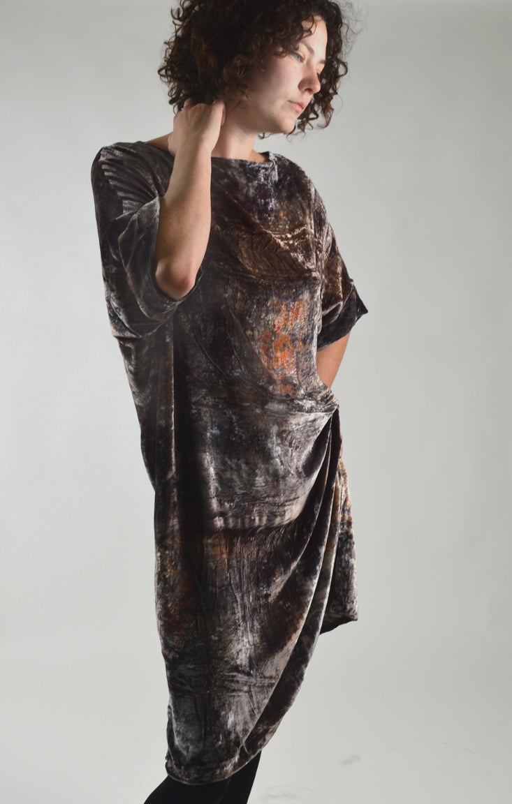 Image of Midnight velvet underground dress
