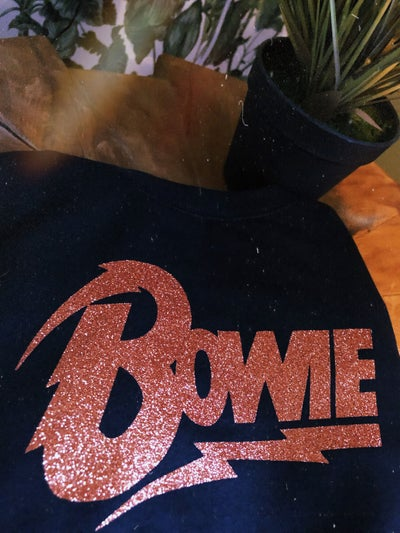 Image of Bowie glitter sweat
